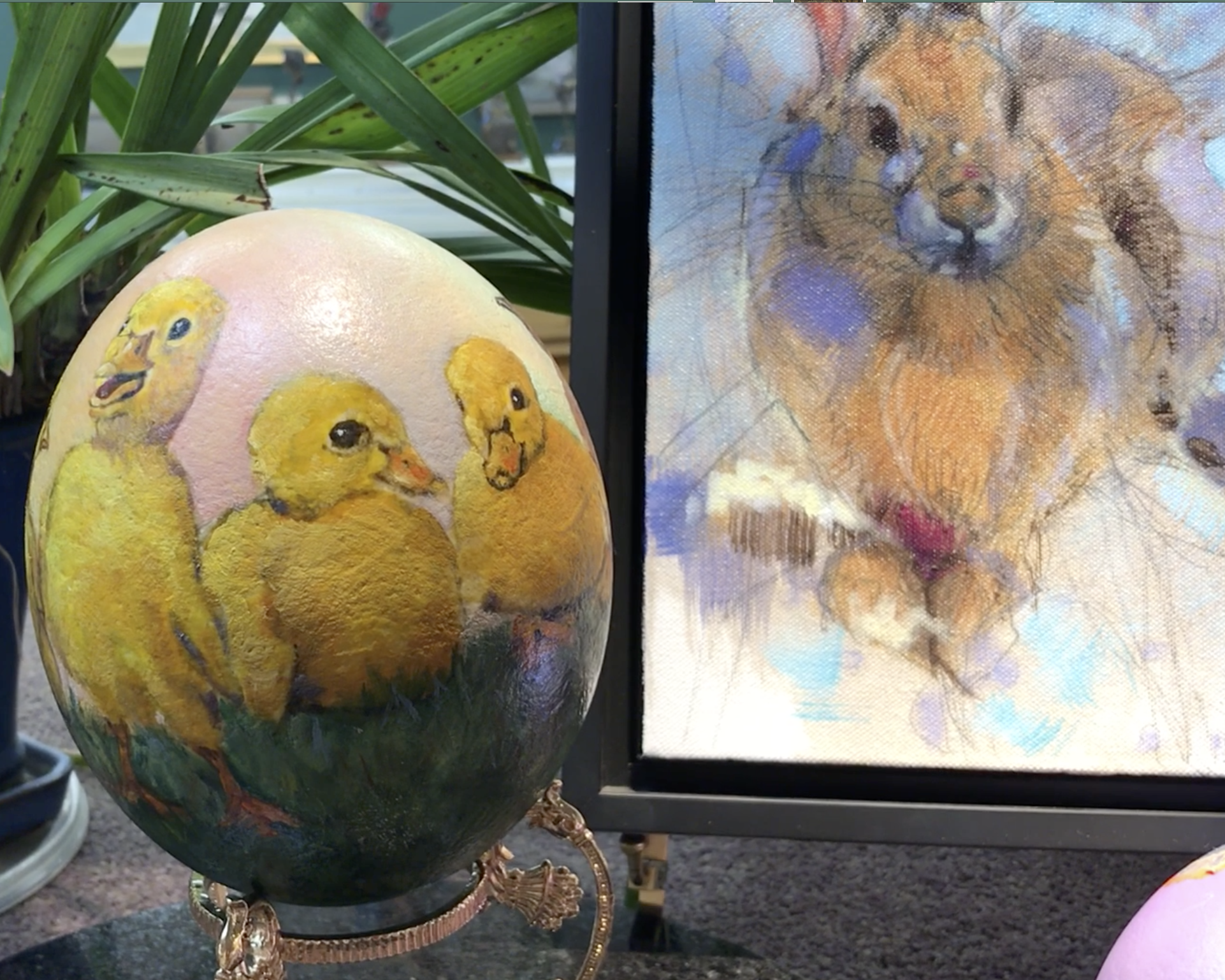 EASTER EGGS, BUNNIES, DUCKLINGS AND CHICKS