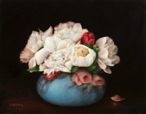LIMOGE WITH PEONIES