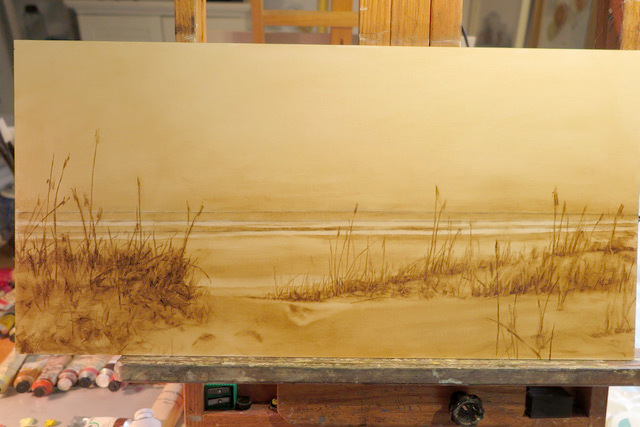 SUSAN BUDASH SHARES WHAT IS ON HER EASEL TODAY
